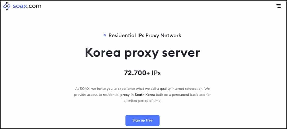 Soax Proxy Location in Korea
