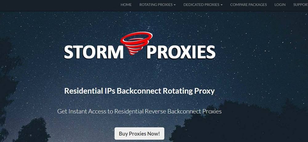 StormProxies for Residential IP use