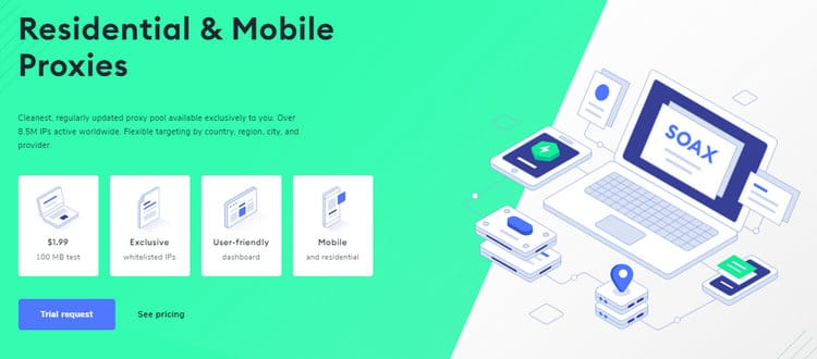 soax mobile & residential proxy network