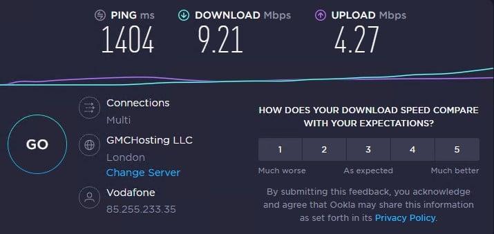 Thesocialproxy ip 2 speed test