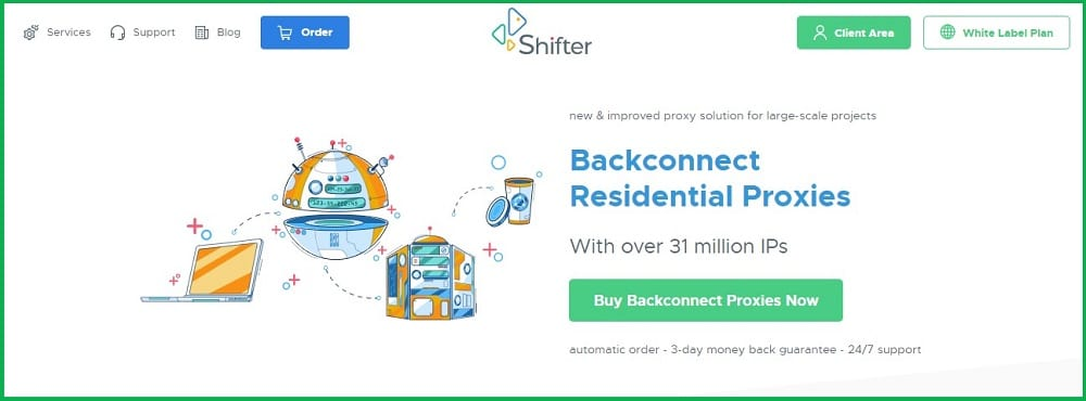 Shifter residential network