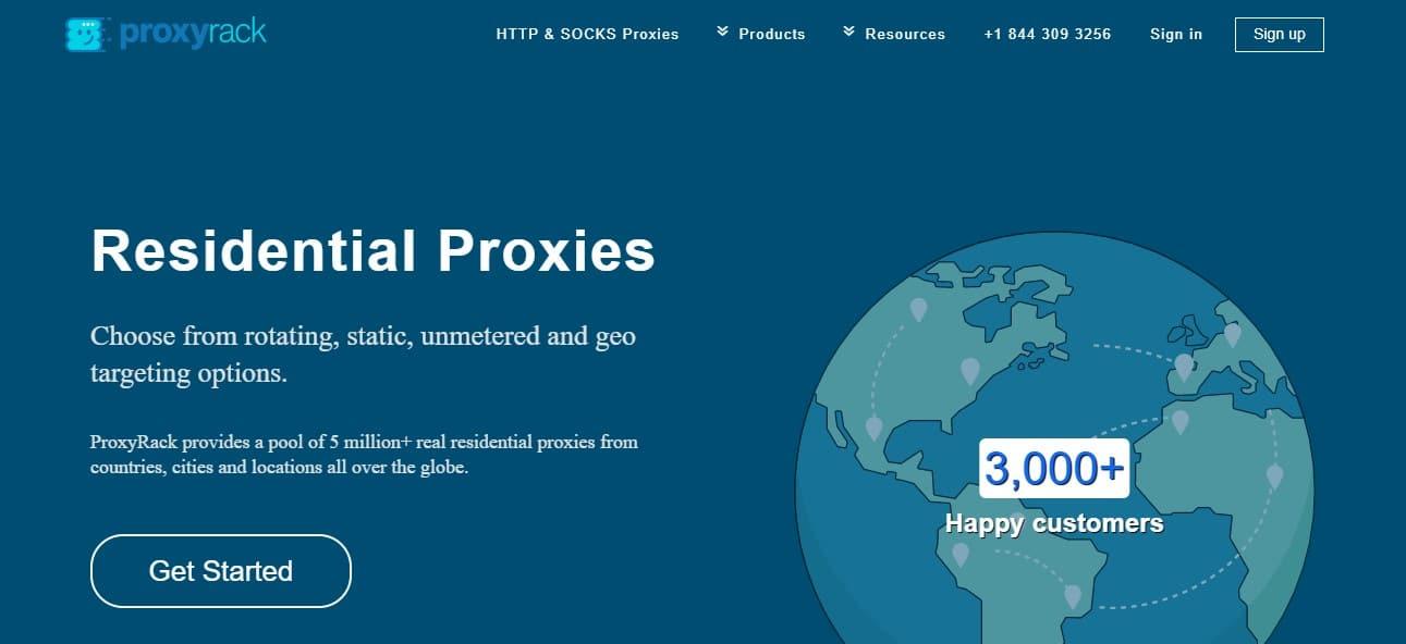 proxyrack residential network